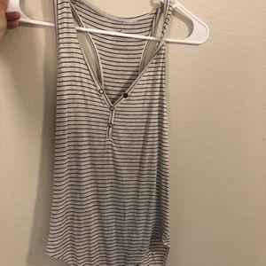 Black/white striped bodysuit